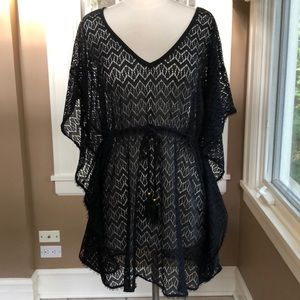 NWT black lace cover-up